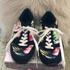Charlotte Russe floral sneakers